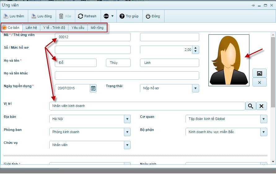 Phần mềm quản lý nhân sự 3