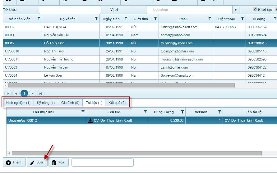 Phần mềm quản lý nhân sự 6